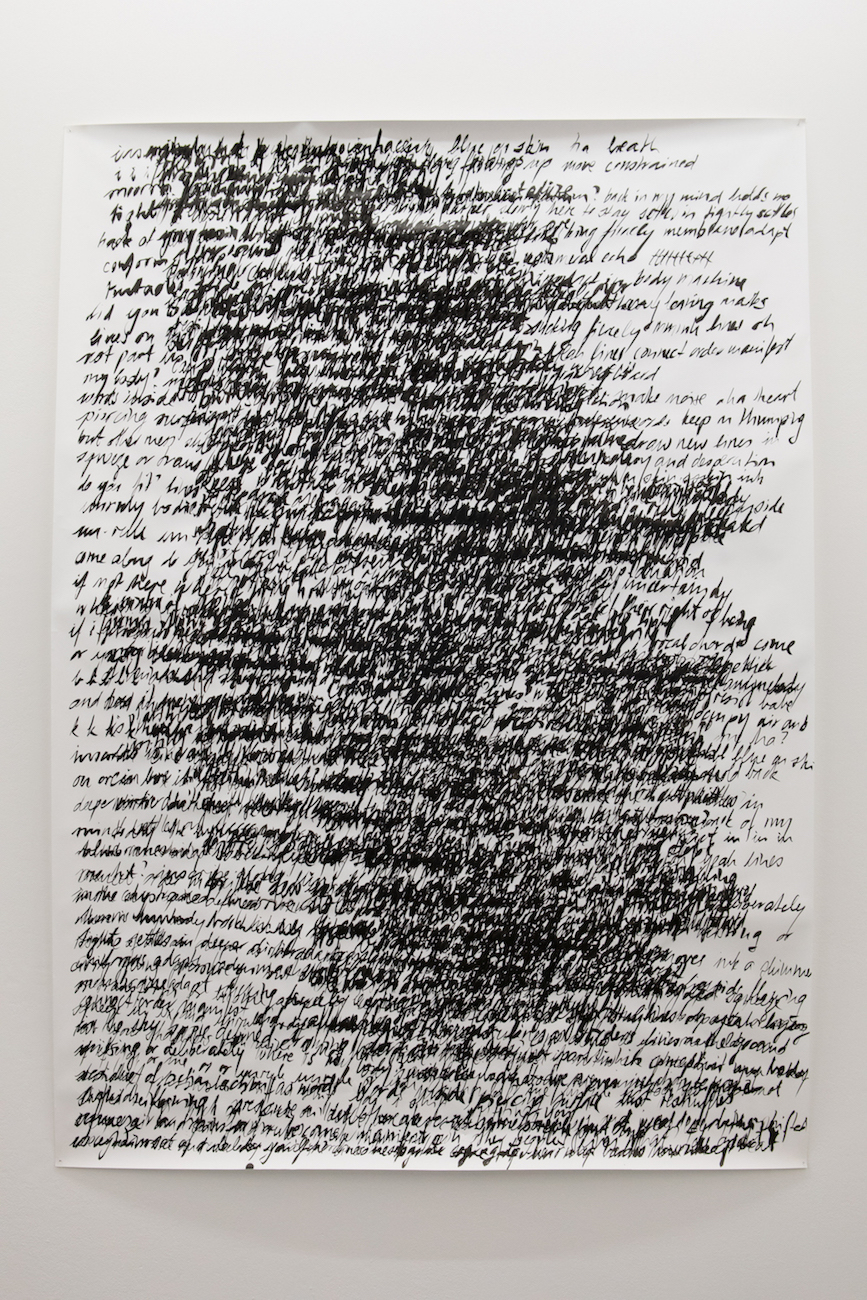 Nicole Bachmann, back in my mind, holds me tight, 2020. Indian Ink on paper. 210 x 150 cm.