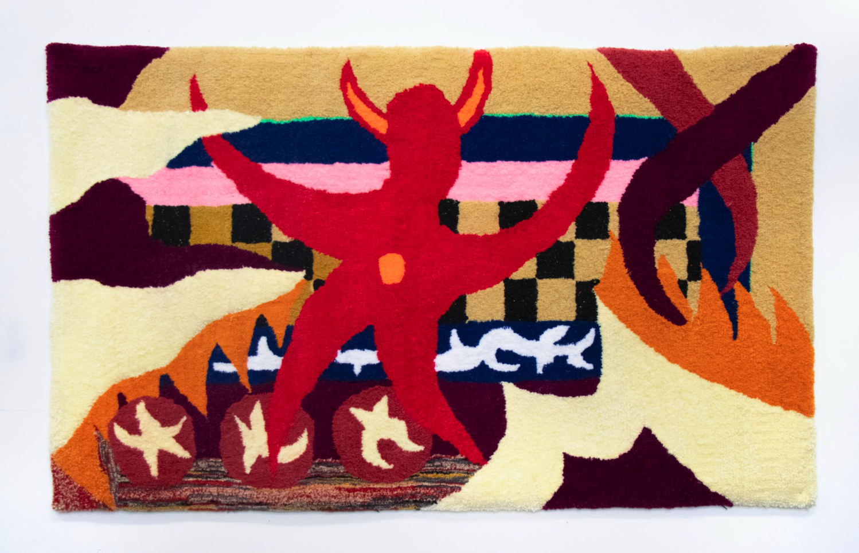 Manutcher Milani, Carpet 3, 2020. Wool, silicon, monk fabric. 180cm x 130cm.