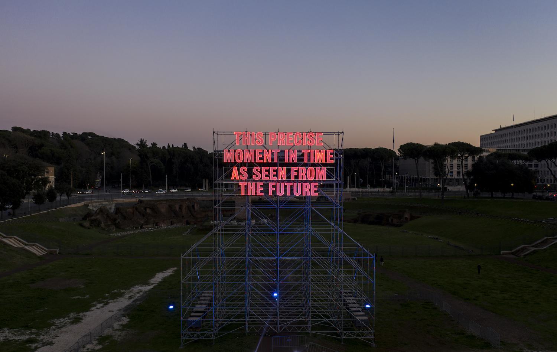 Tim Etchells, Precise Moment, 2020. Installation view. FestaDi Roma, Rome, IT. Photographer: Simone Pagano.