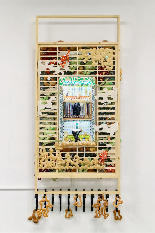 Kara Chin, Sims Dream Flour Shop, 2021. Mixed Media*. 193 x 80 x 30 cm. Photographer: Harley Kuyck-Cohen.
