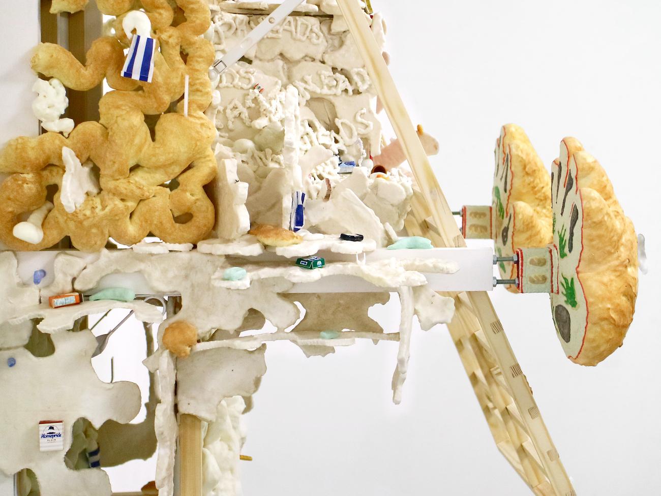 Kara Chin, Bread Hands House (detail), 2021. Mixed Media*. 113 x 80 x 65 cm. Photographer: Harley Kuyck-Cohen.