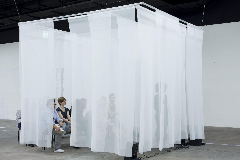 Nicole Bachmann, NOW, 2015. Performance and audio. 00:15:00. Swiss Art Awards, Basel CH.