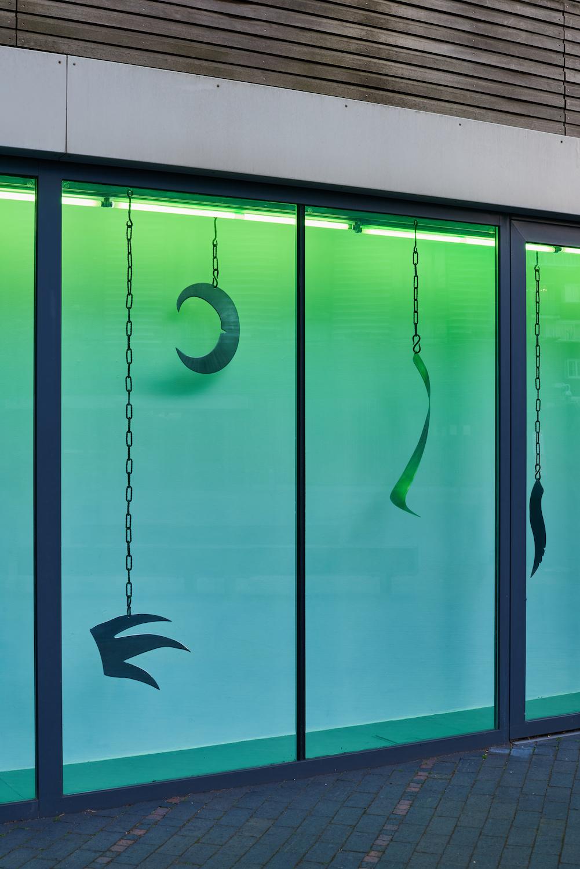 Tarek Lakhrissi, Perfume of Traitors, 2021. Installation view.  VITRINE, London. Photographer: Jonathan Bassett.