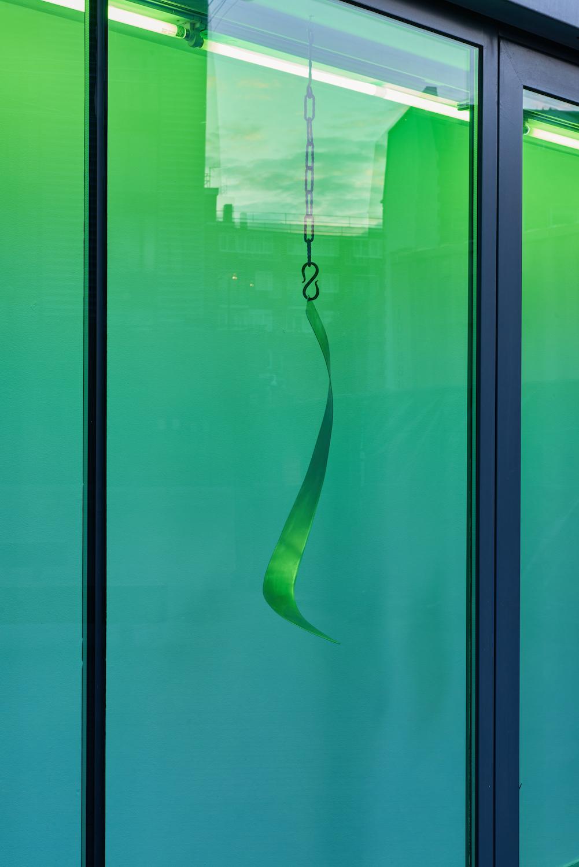 Tarek Lakhrissi, BETRAYING NORMS, 2021. Steel and steel chains. 69 x 42 x 42 cm. Photographer: Jonathan Bassett.