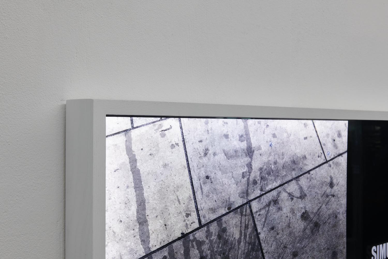 Tim Etchells, Feeling (detail), 2021. Archival Duratrans print, wood, LEDs, plexiglas, acrylic paint. 87 x 122 x 6.5. Edition of 3 (+1 AP). Photographer: Nici Jost.