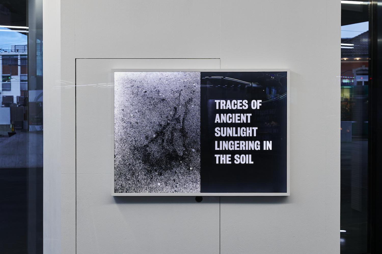 Tim Etchells, Sunlight, 2021. Archival Duratrans print, wood, LEDs, plexiglas, acrylic paint. 87 x 122 x 6.5. Edition of 3 (+1 AP). Photographer: Nici Jost.