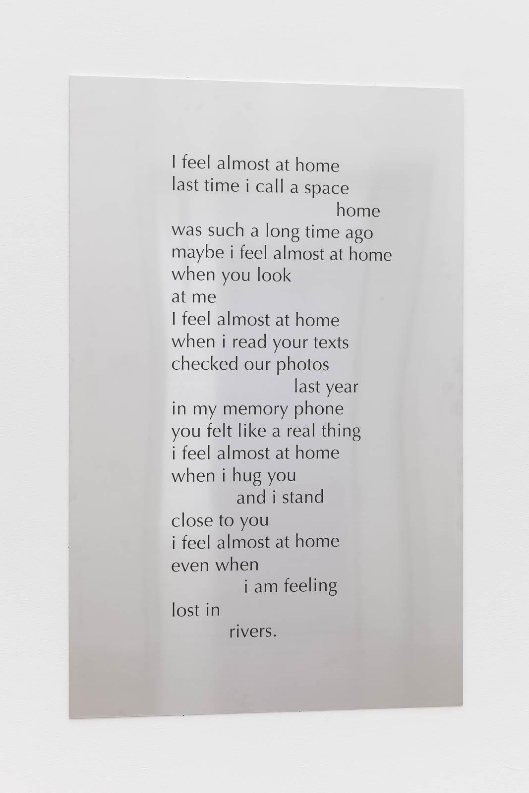 Tarek Lakhrissi, Home, 2021. Aluminium. 110 x 70 x 0.5 cm. Photographer: Mark Blower.