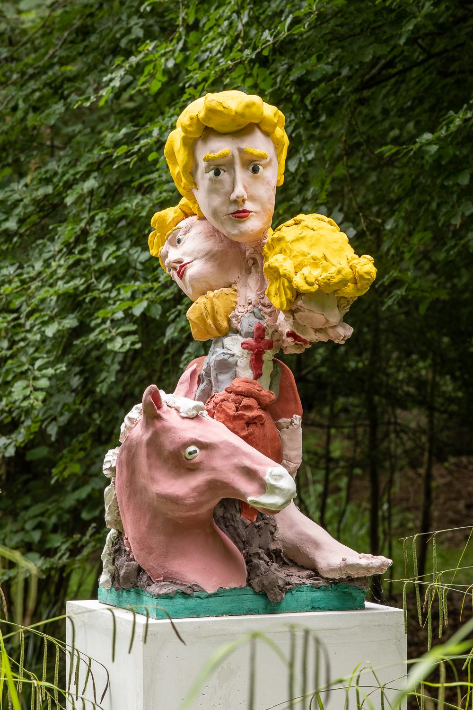 Jamie Fitzpatrick, Prince St Charming Jjjorge (detail), 2021. Jesmonite. 118 x 59.5 x 66 cm (excluding plinth). Edition of 3 (+1AP). Photographer: Rob Harris.
