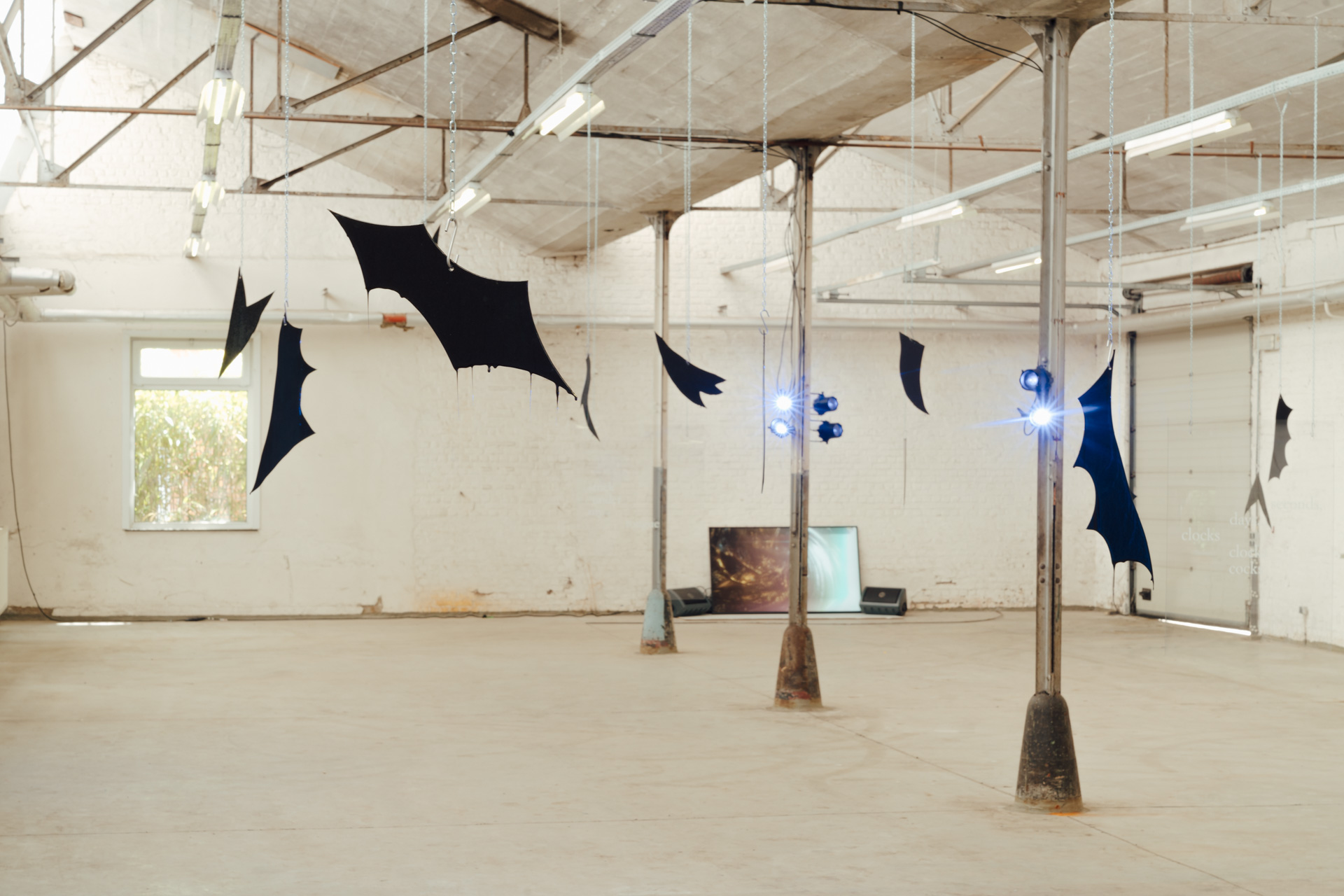 Tarek Lakhrissi, Flying on the raven's wing, 2021. Installation view. HORST Festival, Brussels, BE. Photographer: Illias Teirlinck.