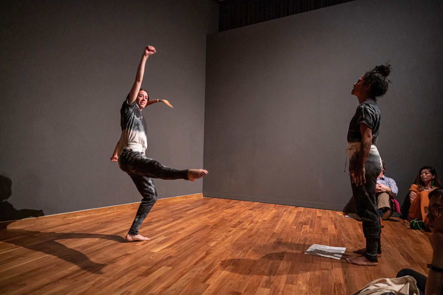 Nicole Bachmann, Personare, 2018/20. Performance. Performed by Patricia Langa and Deborah Emmanuel. ADM Gallery, SG as part of the Singapore Biennale 2019. Photography: Richard Chen.