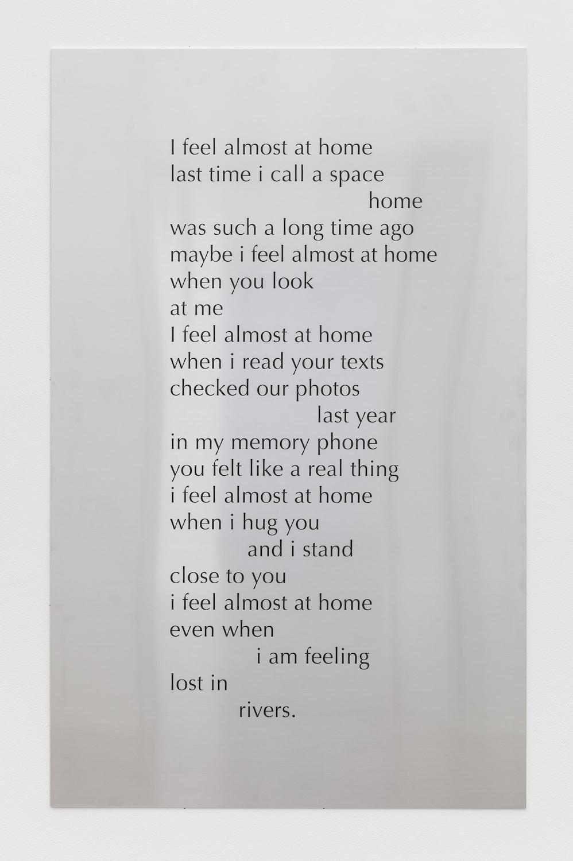 Tarek Lakhrissi, Home, 2021. Aluminium. 110 x 70 x 0.5 cm. Edition of 3 (+1AP). Photographer: Mark Blower.
