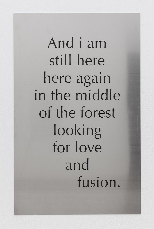 Tarek Lakhrissi, Fusion, 2021. Aluminium. 110 x 70 x 0.5 cm. Edition of 3 (+1AP). Photographer: Mark Blower.
