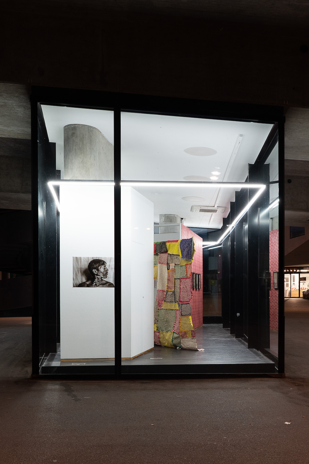 Ashfika Rahman, The typology of wounds, the mapping of healing, 2021. Installation view. VITRINE, Basel. Photographer: Marcel Scheible.