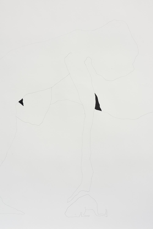 Sophie Jung, Totentanz (Nw mus ich tanczen vnd kan noch nicht gan) (detail), 2021. Ink on archival paper. Instructions for musical interpretation performance. 130 x 1000 cm. Unique. Photographer: Jonathan Bassett.