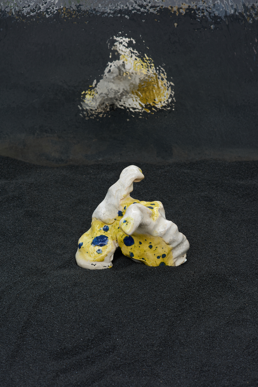 Sophie Jung, The Hindsighters' Children - Cuddlefuckers VIII, 2021. Glazed ceramic. 13 x 14 x 6 cm. Unique. Photographer: Jonathan Bassett.