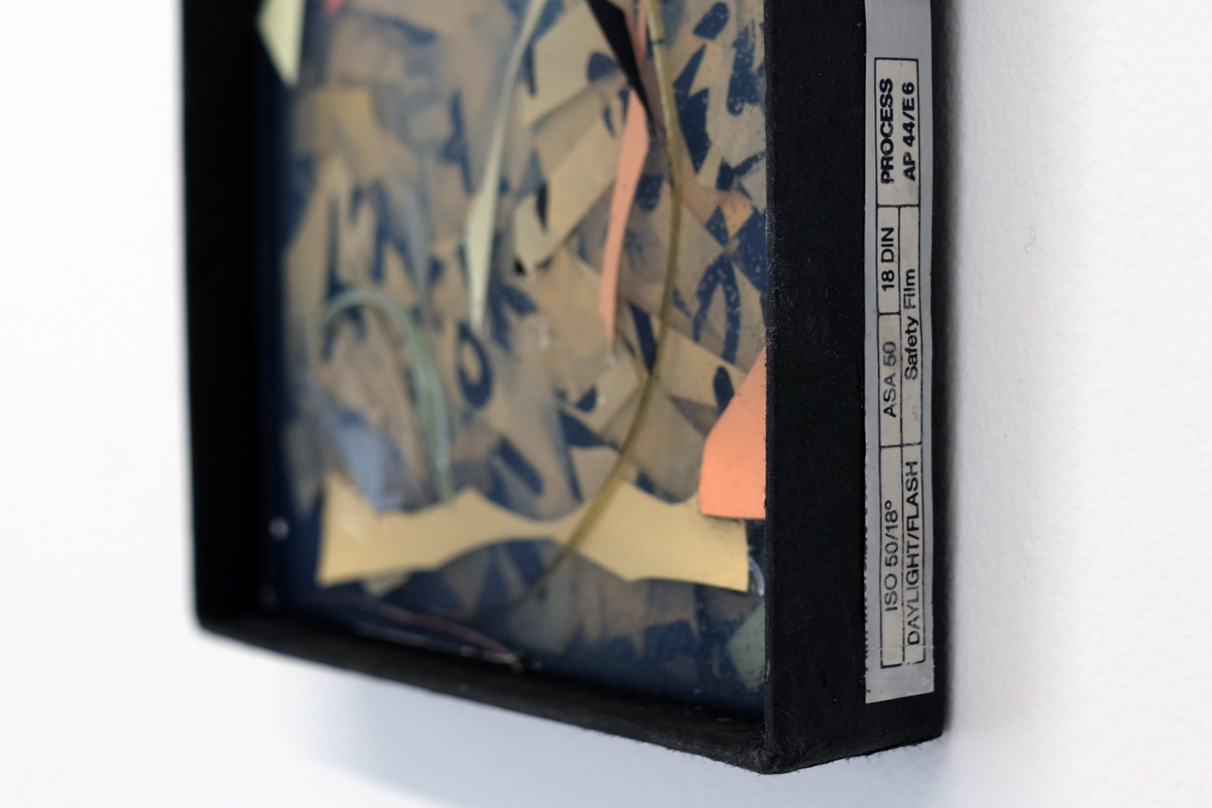 Charlie Godet Thomas, Fix, 2021. Cast rubber, box for photographic paper, card and paper fragments, paint. 14.5 x 12 x 5 cm. Unique.