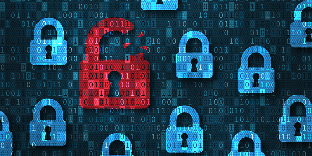 Five Data Breaches leading to COVID-19 Scams, red digital lock broken