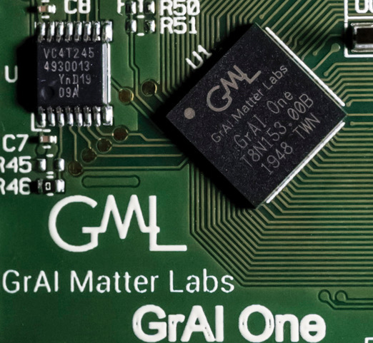 grai matter labs chip on circuit board