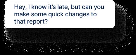 A mock disruptive chat message.