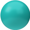 3D Image Green Sphere