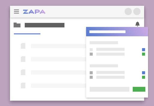 Zapa Client Portal illustration showing Portal Notification Subscription settings.