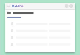 Zapa Client Portal illustration showing a Shared File Portal