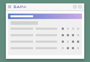 Zapa Client Portal with illustration of Member Management