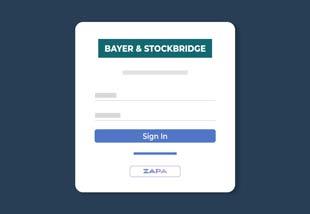 Zapa Client Portal illustration of a custom branded login page