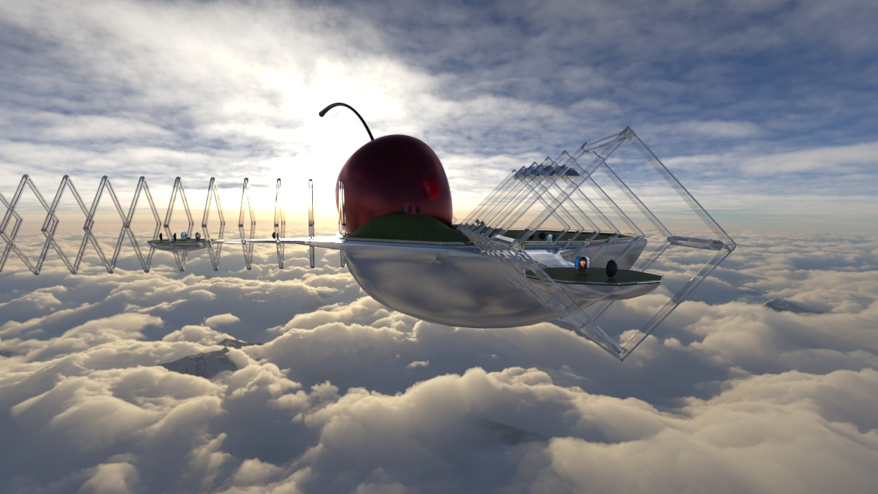NOWHERE, a cherry world floating above the clouds