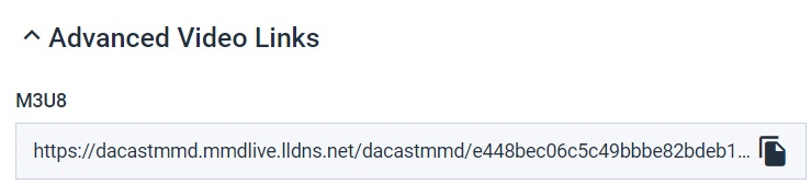 Dacast - Create M3u8 Media Link