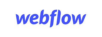 webflow logo in blue