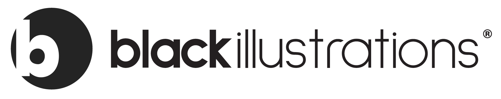 black illustrations logo in black and grey