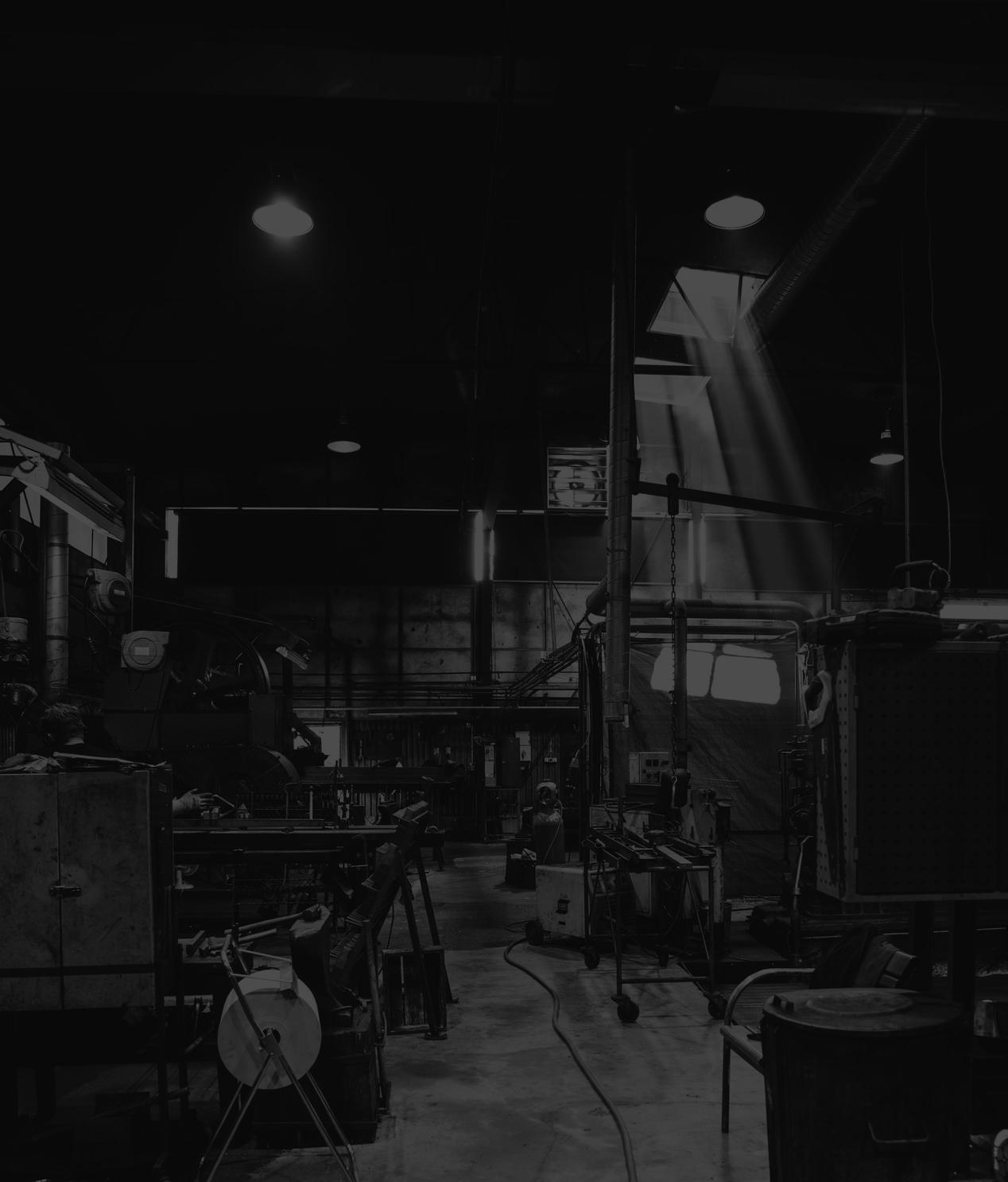 Dark image of timber workshop