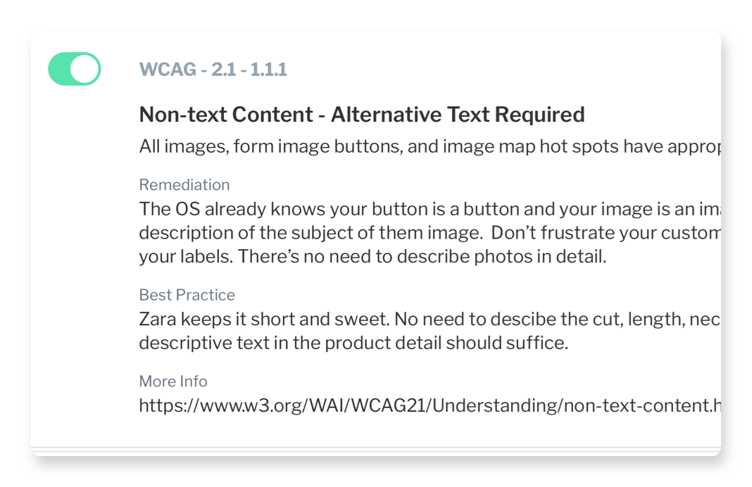Screenshot of Non-text Alternative Text Required Dialog Box
