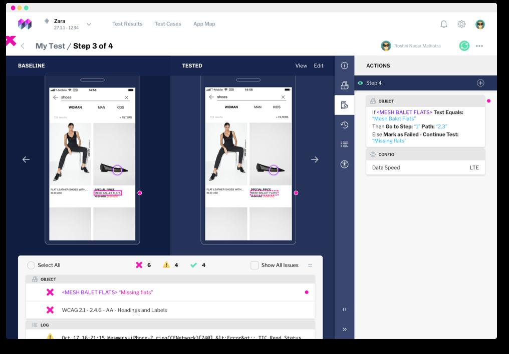 Screenshot of mesmer software interface