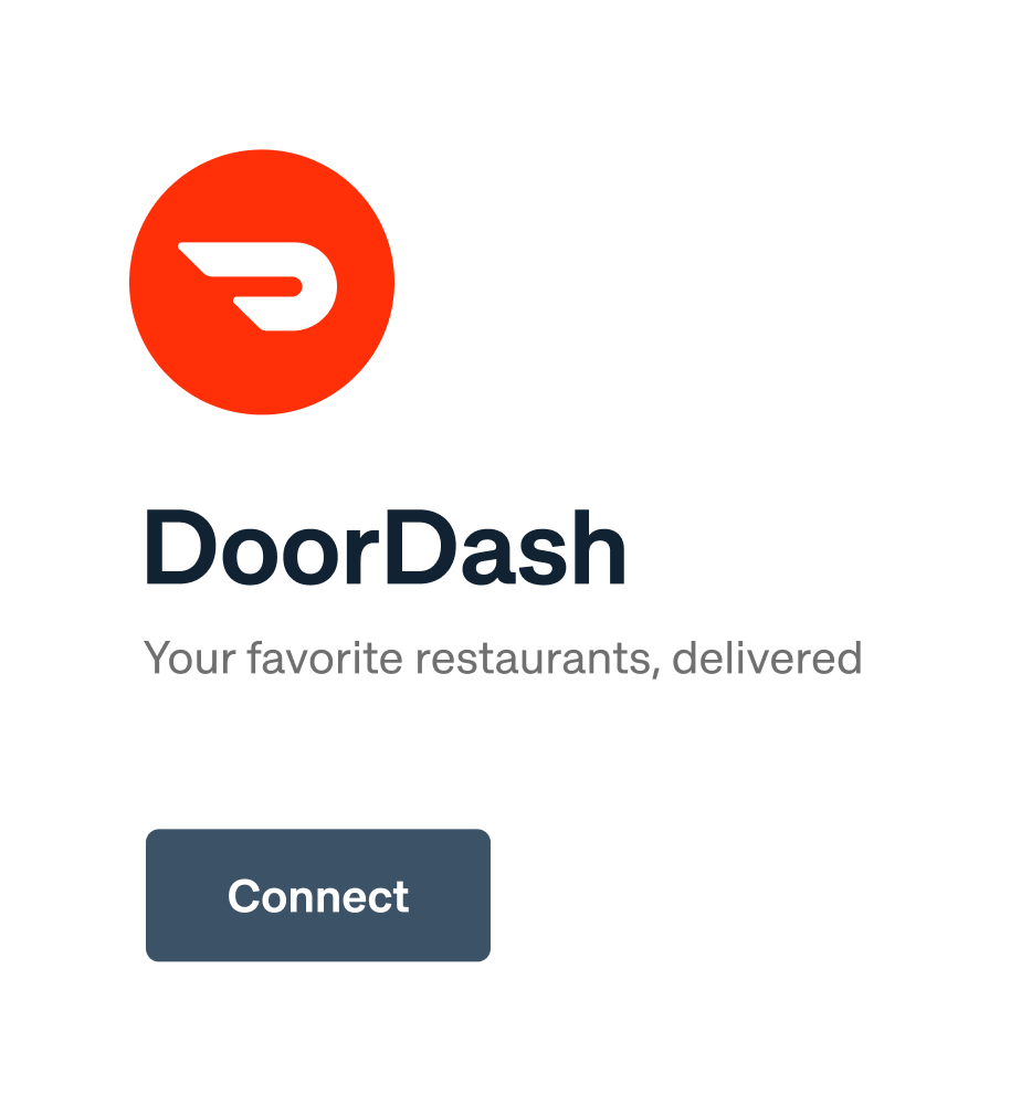 Connect your delivery services Highlight