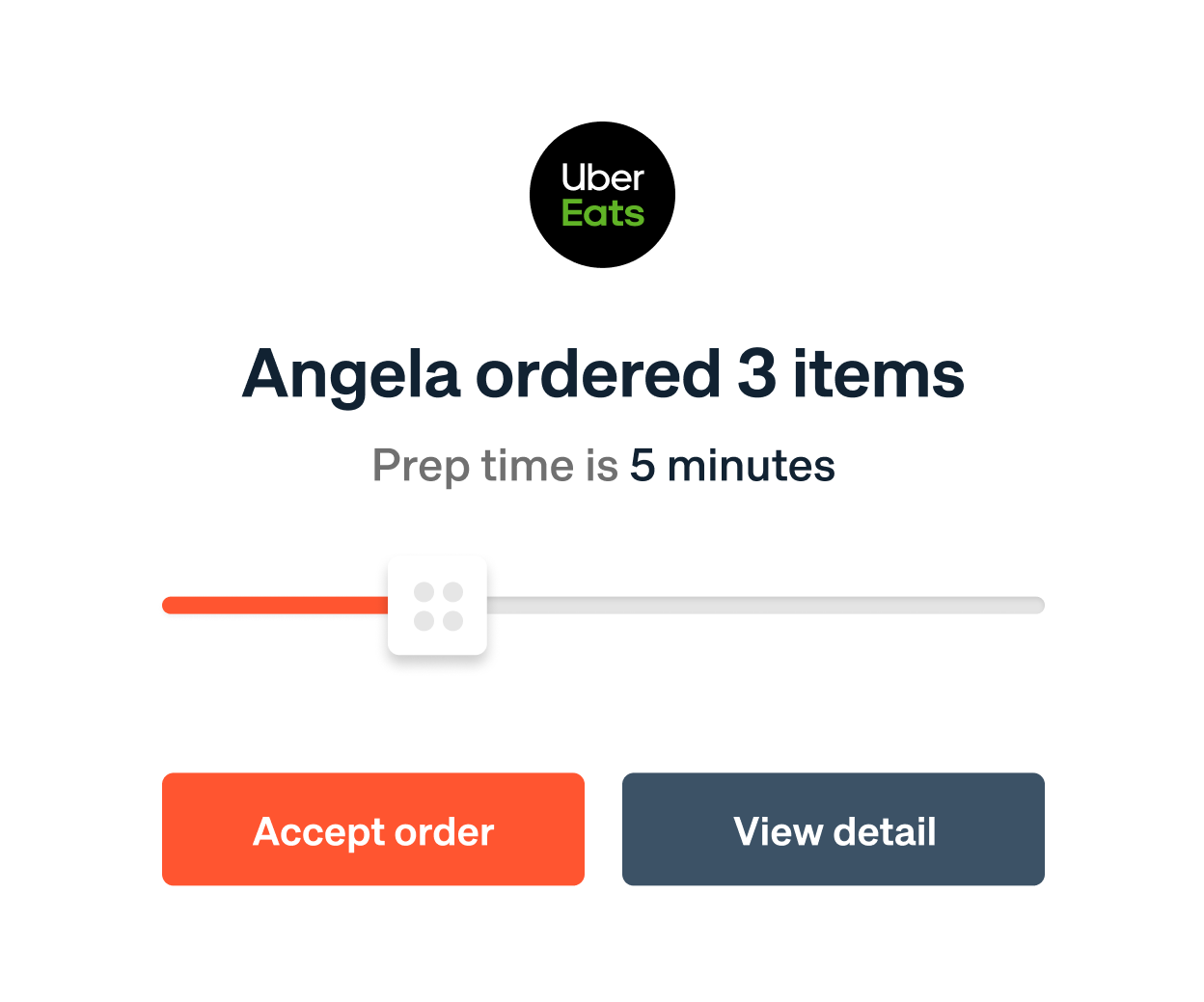 Auto-accept and confirm orders Notification