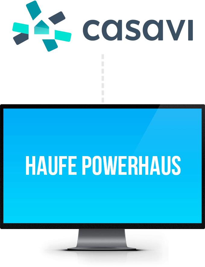 Grafik für die Anbindung der Software Casavi mit Haufe Powerhaus