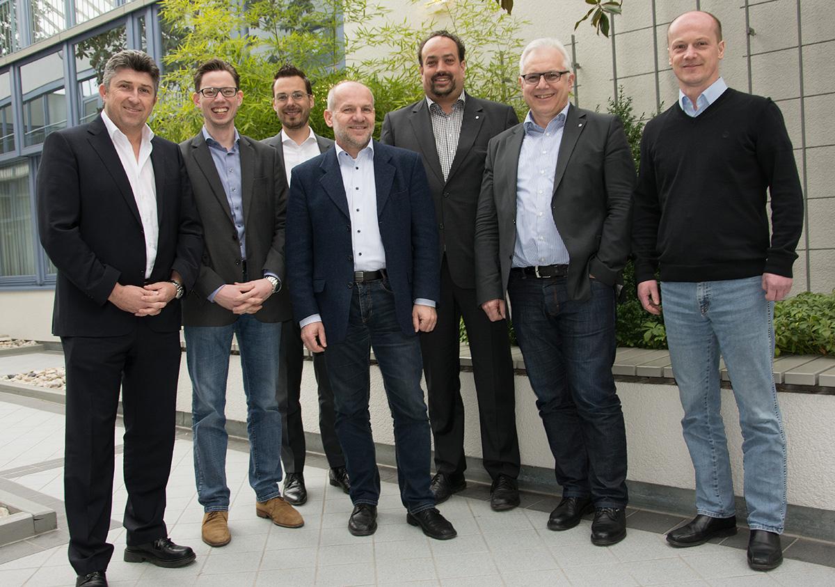 Gruppenbild der sieben Mitglieder des Kundenbeirats von Immobilienverwaltungen für Haufe Powerhaus