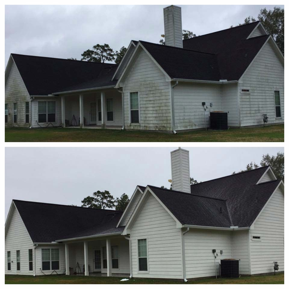 House washing before and after in Fayetteville, AR