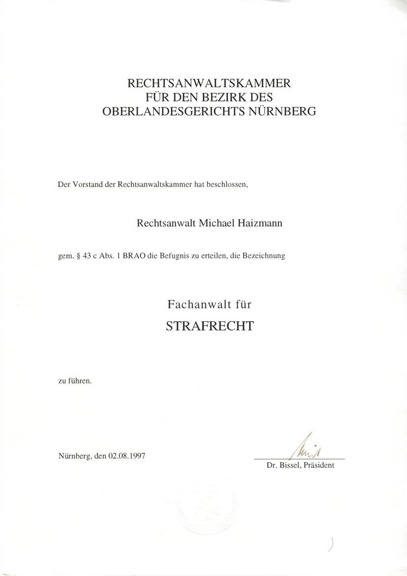 Haizmann Urkunde