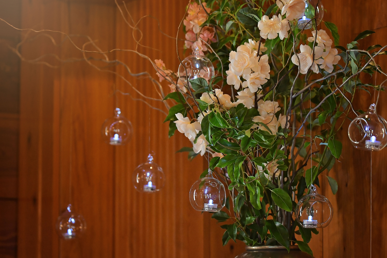 chapel flower arrangement