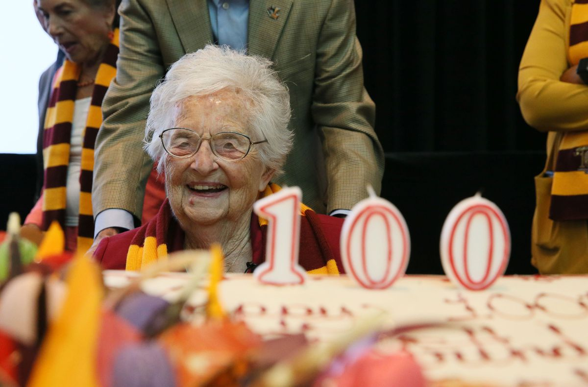 Sister Jean, a fixture at Loyola basketball games, turns 100 today. Her  secret to a long life? 'I eat well and sleep well. And hopefully I pray  well.' - Chicago Tribune
