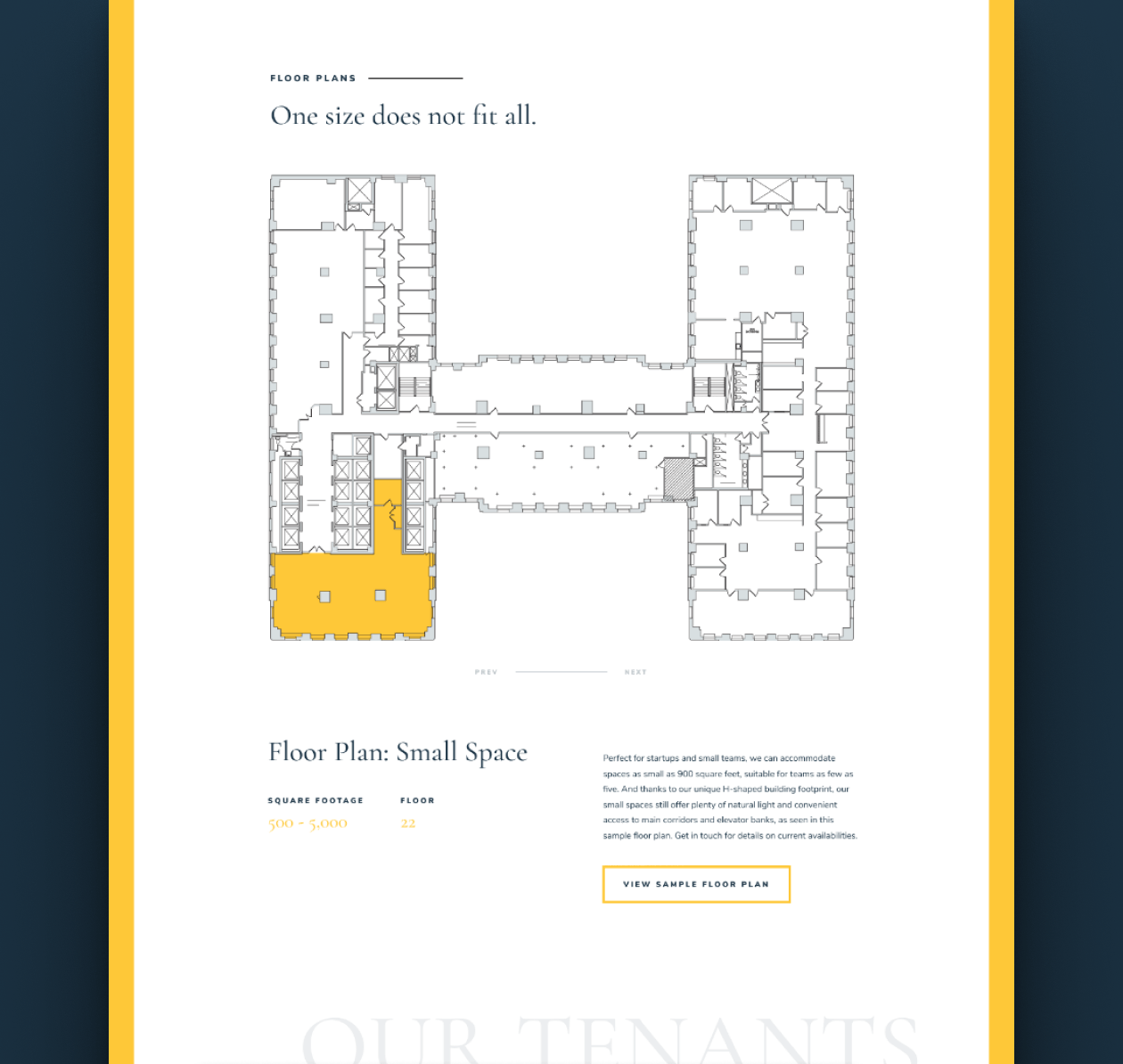 123 S Broad - Floor plans. One size does not fit all.