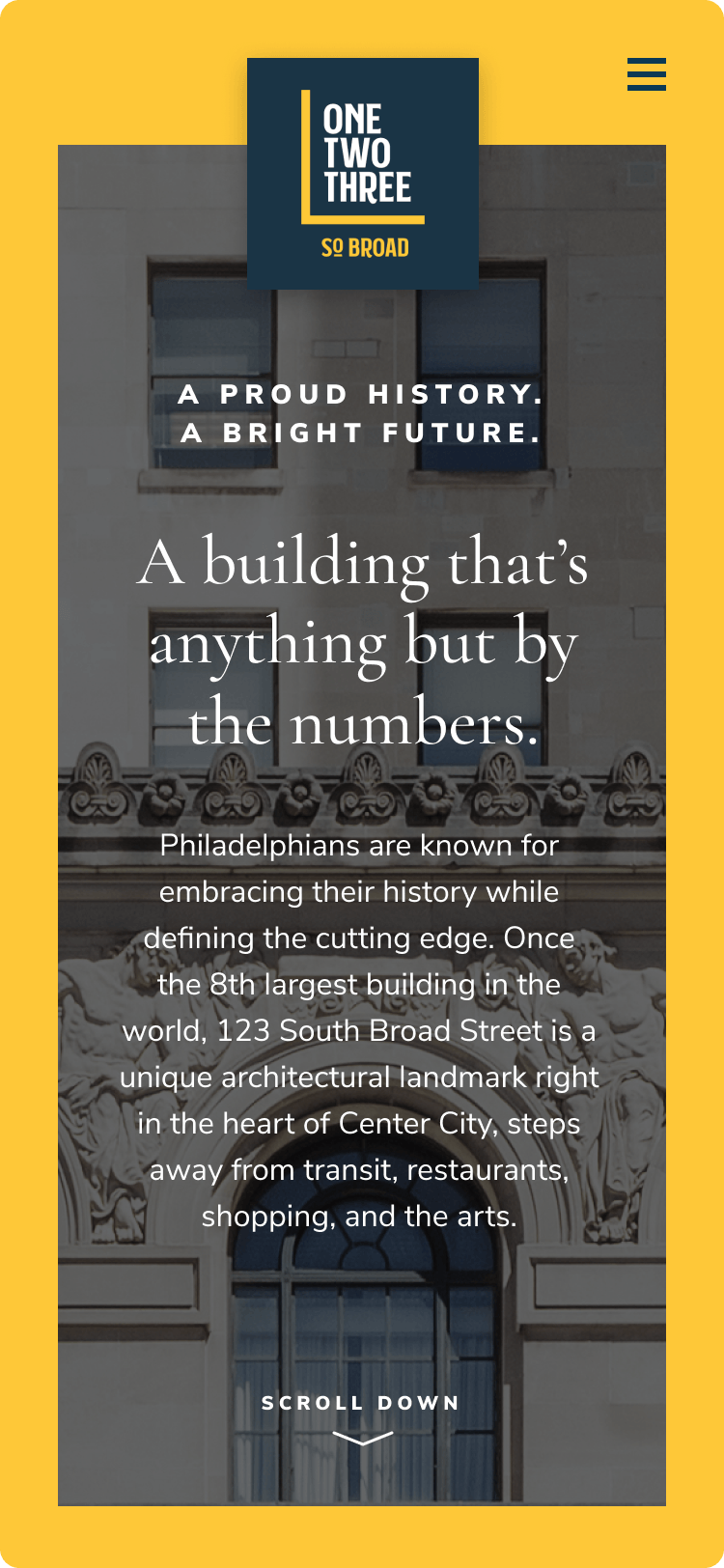 123 S Broad - A proud history. A bright future.