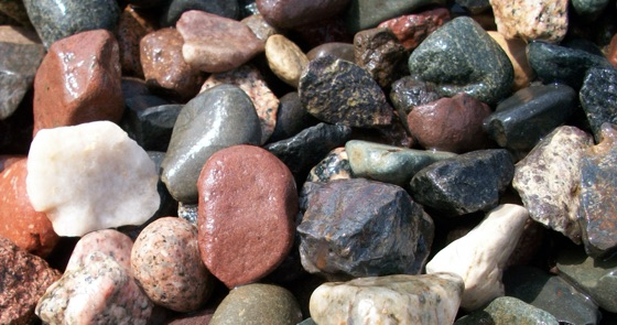 closeup of rock varieties