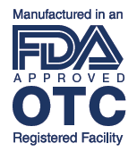 FDA and OTC Approved manufacturer