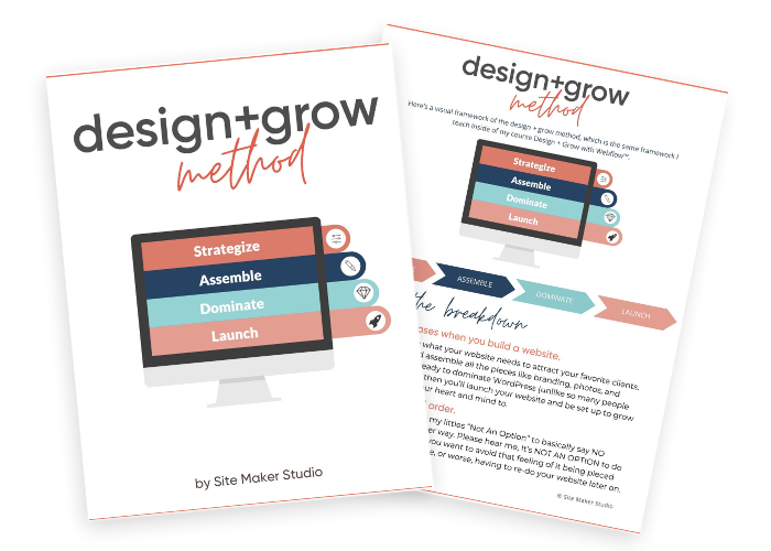Design and grow method explains how to become a website designer for beginner website designers using webflow or other platforms