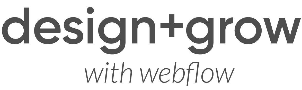 Design and Grow with Webflow Course Waiting List Page Logo