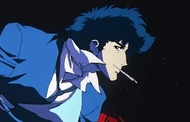 Cowboy Bebop smiling and smoking | Guess the Age of These Anime Characters